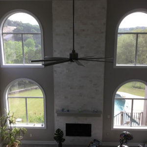 Austin Whole House Remodel Floor To Ceiling Fireplace Facade