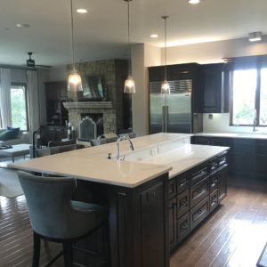 Bee Cave Kitchen Remodel Contemporary Traditional Island and Fridge