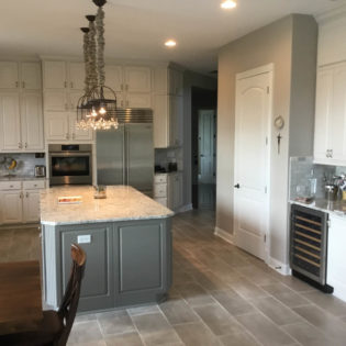 Kitchen Remodel wine fridge