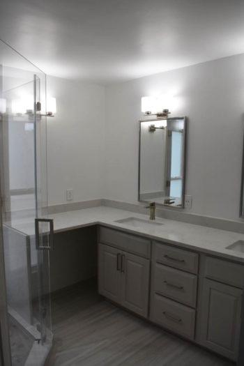 Lakeway Bathroom Remodel With Waterfall Countertop