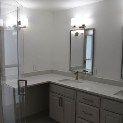 Lakeway Bathroom Remodel With Waterfall Countertop