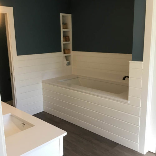 West Lake Hills Bathroom Remodel Tub With Shiplap