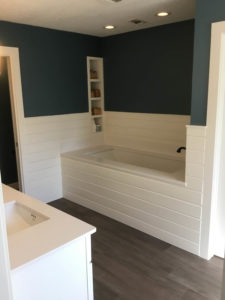 Westlake Bathroom Remodel Tub With Shiplap