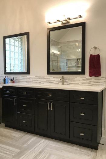 Lakeway Bath Remodel cabinet mirror