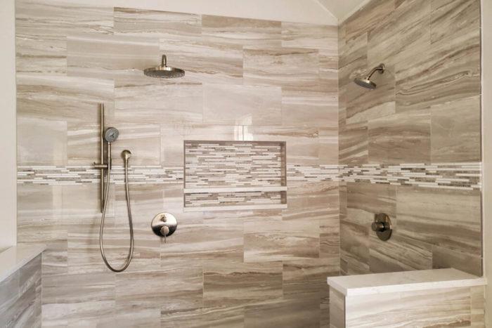 Lakeway Bath Remodel wide shampoo niche